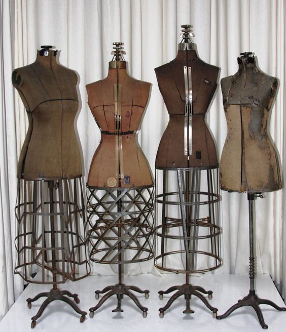 Amazing collection of antique dress forms