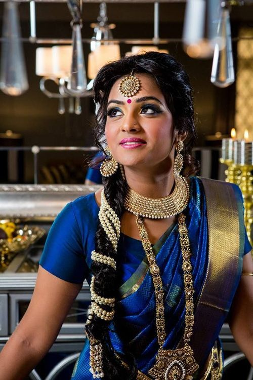 Indian wedding hairstyle with a braid