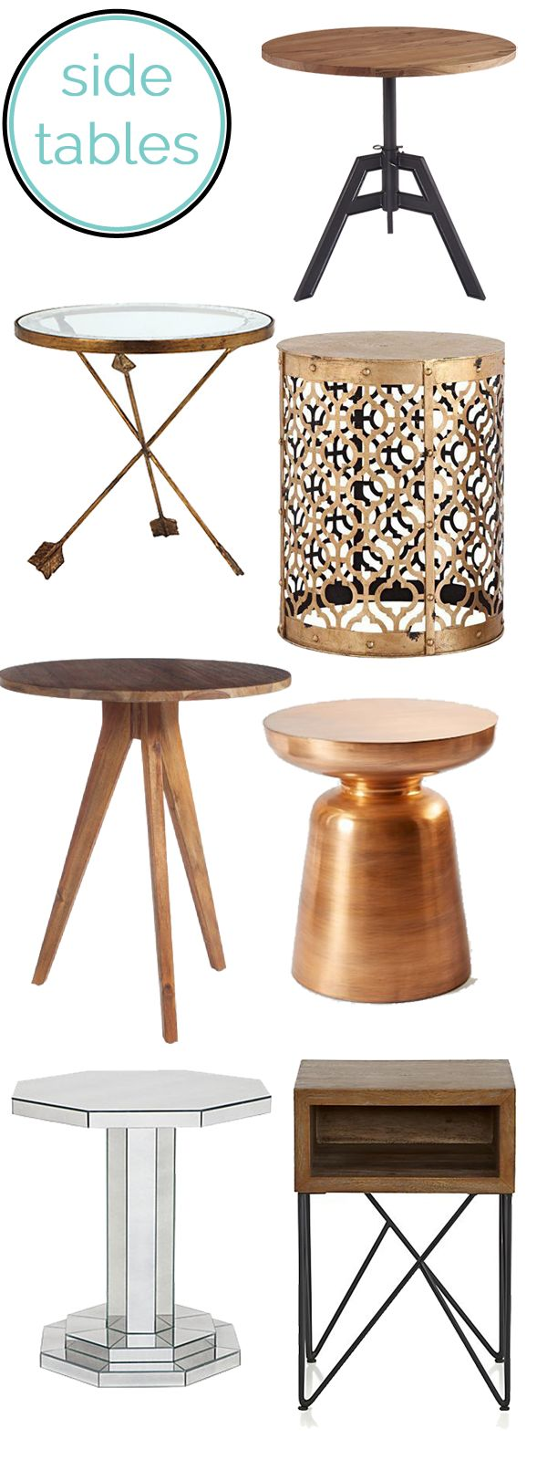 A roundup of some of My Style Vita's favorite side tables for your living room.