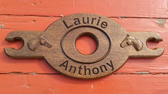 Wine Glass Holder -Wedding Gift - Personalized Wood Wine Glass Carrier