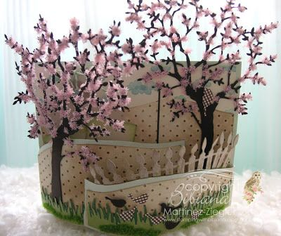 By Bibiana, #Bendi fold card using #memoryBox dies. For complete photo tutorial please visit me at my personal blog: http://stampingwithbibiana.blogspot.com/2013/03/bendi-fold-for-spring.html