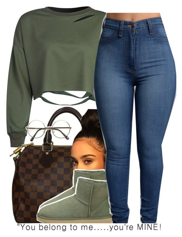 """olive green ..."" by trinityannetrinity ❤ liked on Polyvore featuring Louis Vuitton and UGG Australia"