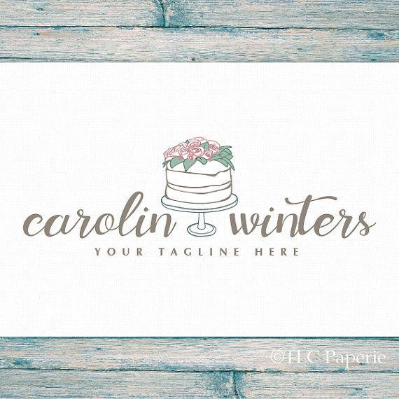 Bakery Logo Design Cake Logo Wedding Cake Logo  by TLCPaperie