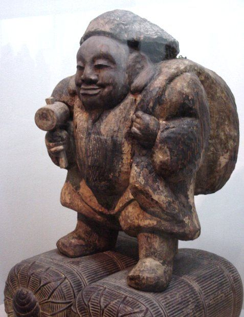 Daikoku (Daikokuten) - Japanese God of Farmers, Agriculture, Rice, Wealth, Commerce, the Kitchen; Japanese Buddhism A-to-Z Photo Dictionary