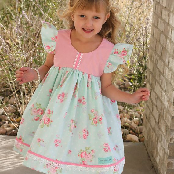 Baby's First Birthday Dress Girls Tea Party by BestDressEver