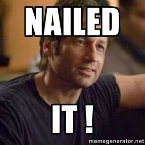 Nailed it ! | Hank Moody