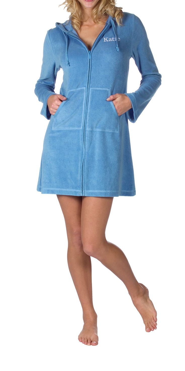 Cotton Terry Hoodie - Blue
