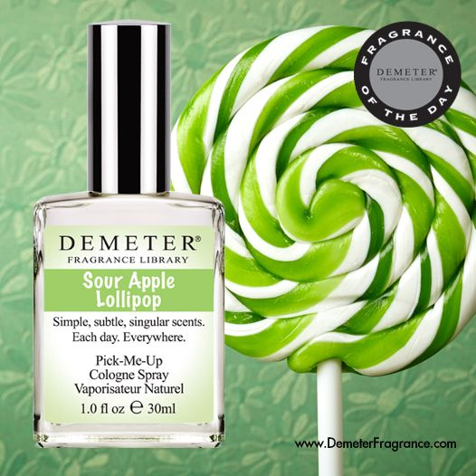 "Receive Sour Apple Lollipop for 25% off today only with code PUCKER. On this day in 1941, Carmen Miranda recorded ""The Man with the Lollipop Song"". Demeter's Sour Apple Lollipop is about that incredible burst of flavor set off by the opposites-attract combination of fruity-sweet and tart."