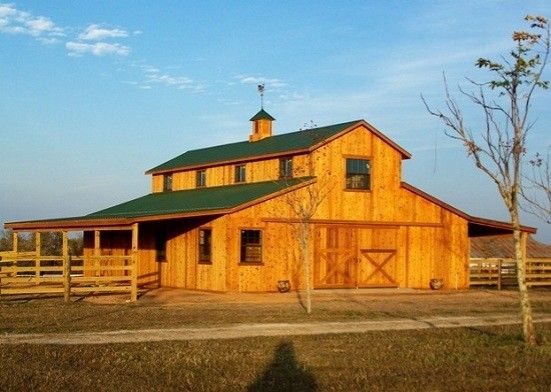 Custom built horse barns building rustic barns barn for Custom rustic homes
