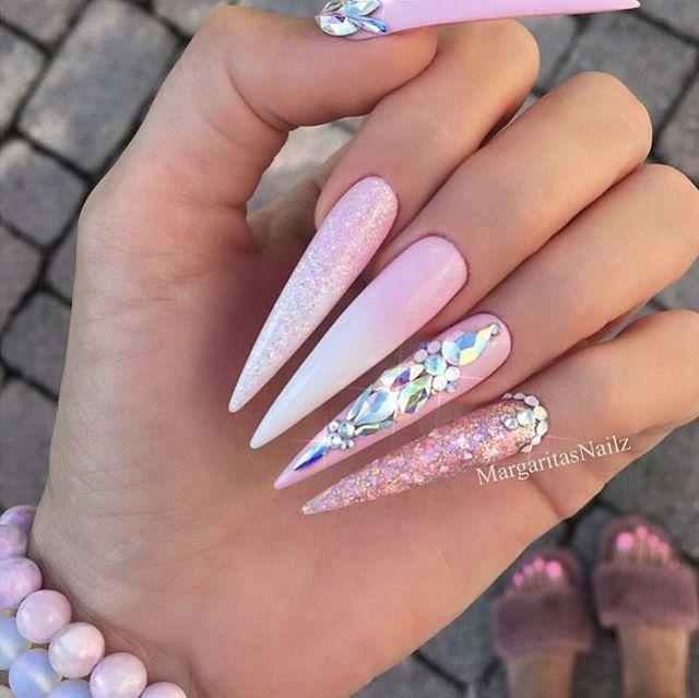 Best 25+ Pink stiletto nails ideas on Pinterest | Stiletto ...