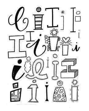 """399 Likes, 6 Comments - Jessie Arnold (Melissa Spivak.arnoldsartroom) on Instagram: """"Letter I! #handletteredabcs #handletteredabcs_2017 #abcs_i #lettering #handlettering #handlettered…"""""""