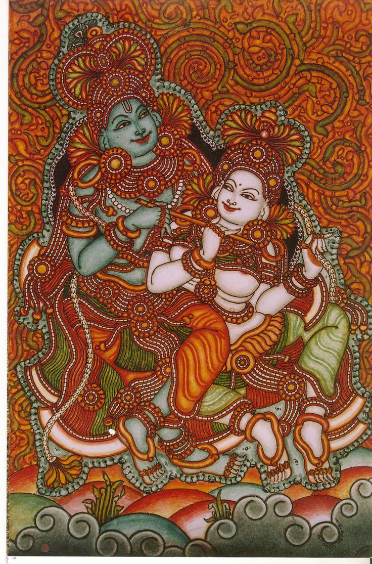 Kerala Mural: Painting by my friend.