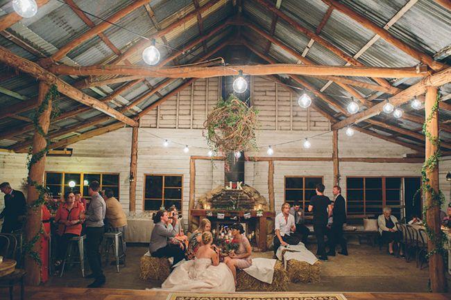 Barn wedding reception. Farm wedding. Barn wedding. Real Wedding: Kayla and Jesse in Kenilworth   The Bride's Tree - Sunshine Coast Wedding