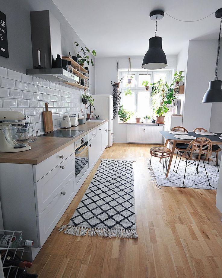 Boho Scandi Nordic Kitchen Metrotiles Beni Ourain …
