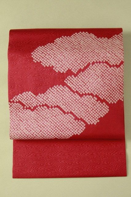 Rose pink nagoya obi / ローズピンク地 絞りの雲お太鼓柄 名古屋帯   #Kimono #Japan http://global.rakuten.com/en/store/aiyama/