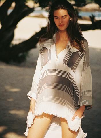 VERDE STRIPE - BAIA SHIRT DRESS
