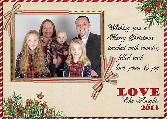 Christmas Photo Card personalised & by MKLiveLaughLoveShop on Etsy, $7.00