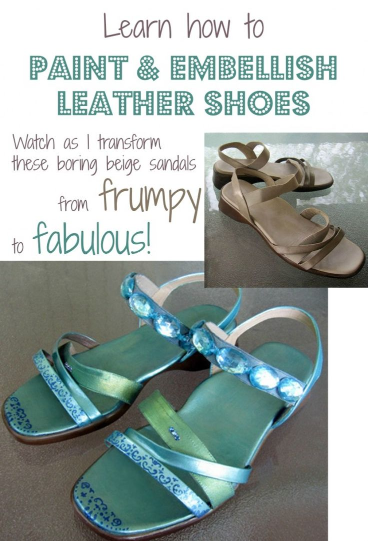 Freshen your wardrobe for spring with this easy crafts project. Painting leather shoes, boots or sandals the right way with acrylic fabric paint lets you turn old or inexpensive pairs into fashionable custom footwear in whatever colors you like. You can even embellish them with rhinestones, faux gems, sequins and other trim if you like a little bling!