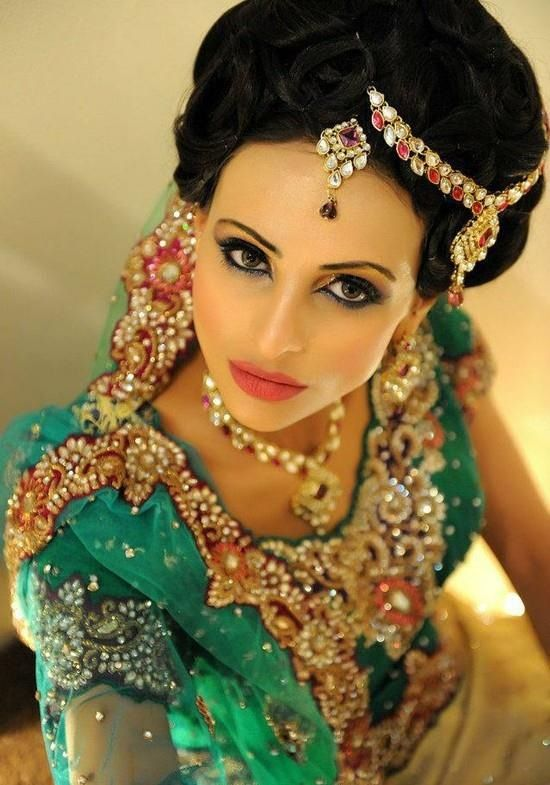 Asian Bridal Hairstyle : 81 best south asian bridal makeup images on pinterest
