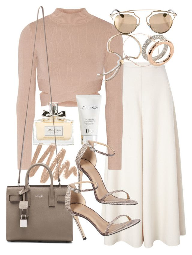 """Untitled #19340"" by florencia95 ❤ liked on Polyvore featuring moda, Temperley London, Jonathan Simkhai, Christian Dior, Emporio Armani, Tiffany & Co., Yves Saint Laurent y Stuart Weitzman"