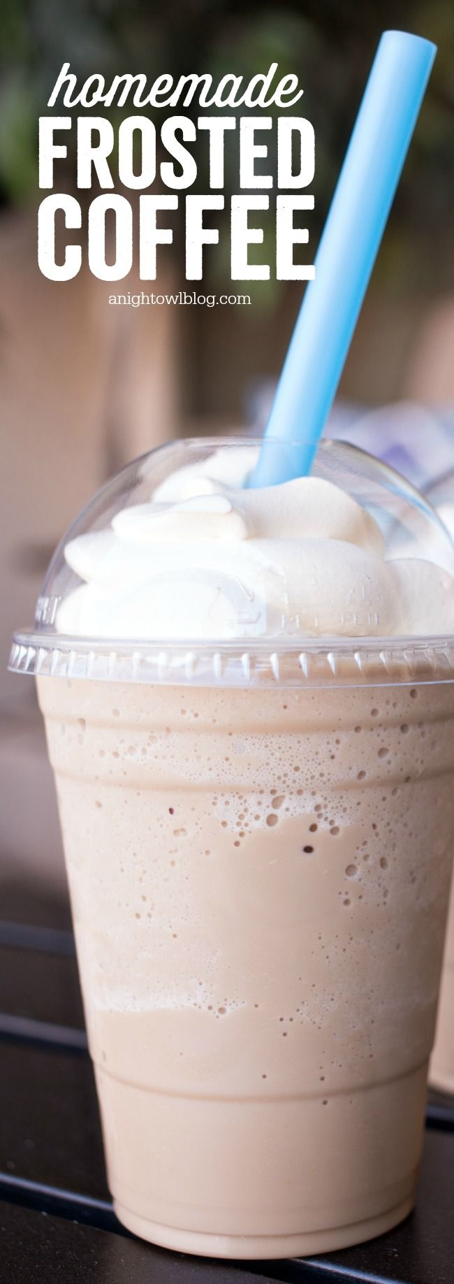 This Homemade Frosted Coffee is the perfect coffee treat for the summer! Check out the step by step recipe!