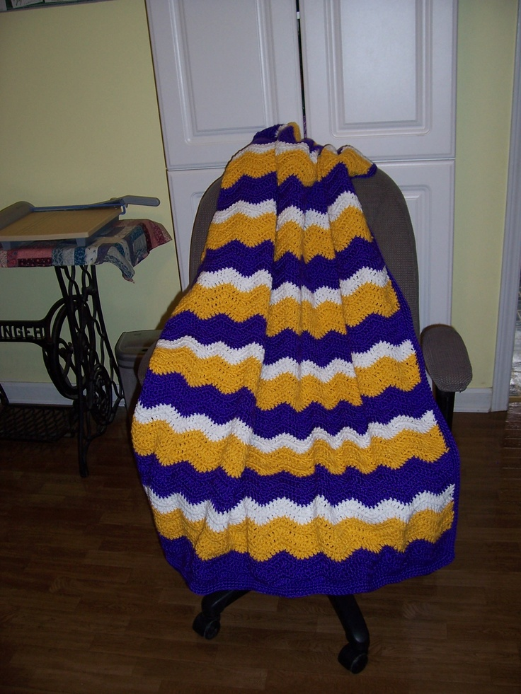 LSU mile a minute afghan. | My Handmade Thingies ...