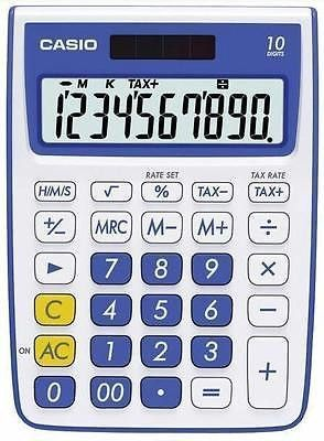 Casio Ten Digit Solar Plus Battery Portable Desktop Calculator