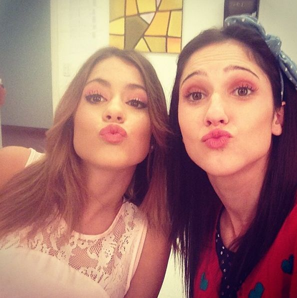 Martina Stoessel and Lodovica Comello