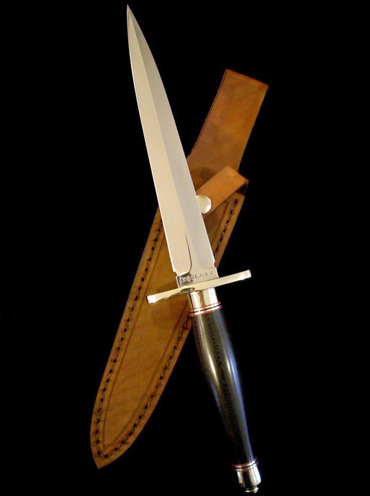 Rare Steve VOORHIS Custom Fairbairn-Sykes Fighting Stiletto Knife -F-S Commando #SteveVoorhis