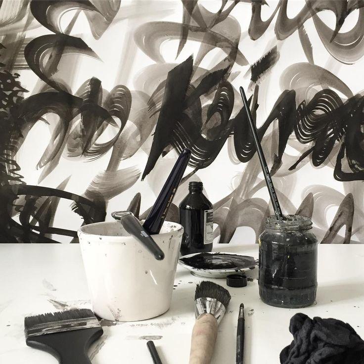 Calligrapher's nightmare. My dream. #juliakaiser #art #artist #painting #drawing #calligraphy #contemporaryart #ink #sumi #inkonpaper #blackandwhite #artiststudio #artistlife #womenartists #abstract #abstractart #abstraction #creative #monochrome #monoart #noir #picture #paper #gallery #creative #atelier
