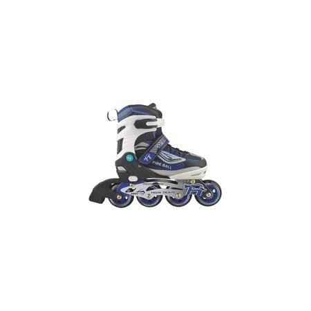 Tech Team Роликовые коньки Fire Ball, Tech Team  — 3150р. ------ Раздвижные ролики Fire Ball, Tech Team, идеально подходят для комфортного и безопасного катания Вашего ребенка. Ролики яркой сине-черной расцветки выполнены в стильном спортивном дизайне. Мягкий внешний ботинок из текстильных материалов и пластика с мягким внутренним сапожком обеспечивает удобство и безопасность во время катания. Ролики оснащены системой раздвижения на 3 полных размера, что позволяет использовать их несколько…