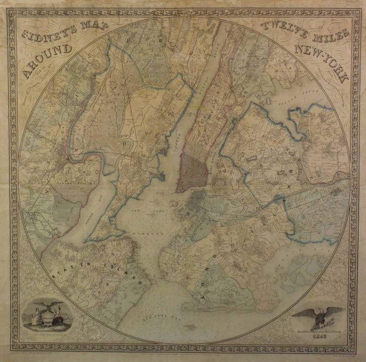 Items similar to Sidneyu0027s Map Twelve Miles
