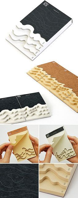 Topography Memo Pad Inspiration for a shadow box using topography maps.