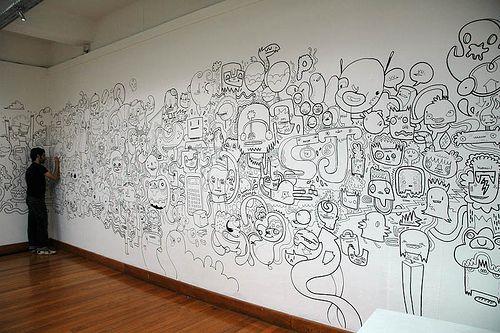 Line Art Mural : Best doodle designs images on pinterest