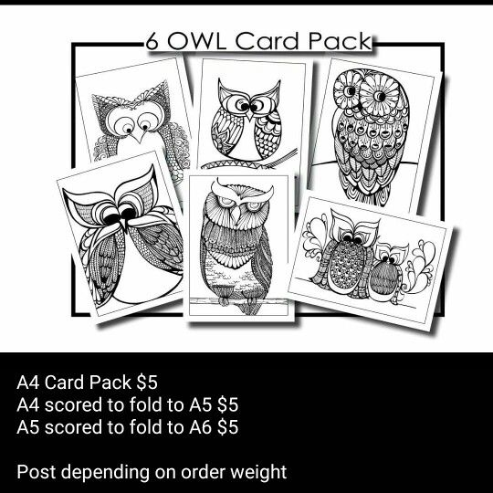 Adult colouring in card packs. find them on facebook - Colouring In Book