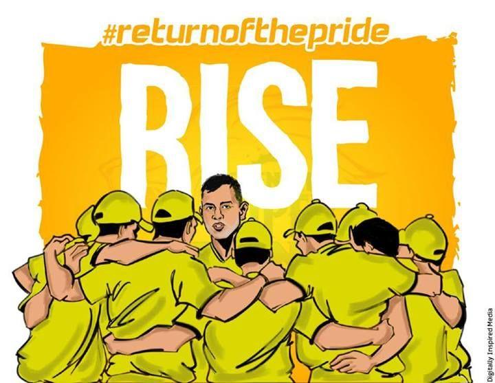 IPL Campaign- #whistlepodu #returnofthepride #csk #super11 #IPL7