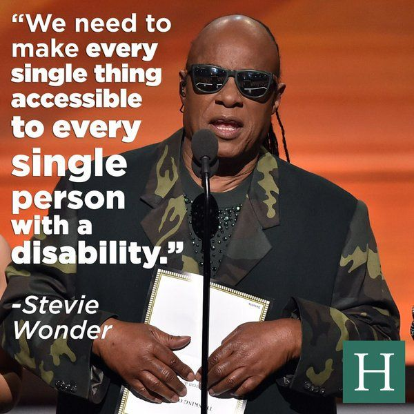 A wonderful quote from Stevie Wonder