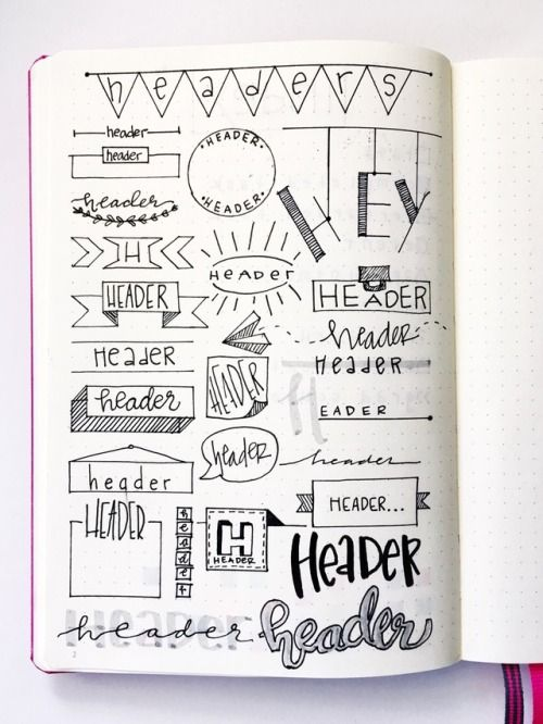 16 Super Cool Bullet Journal Header Ideas Like Pro