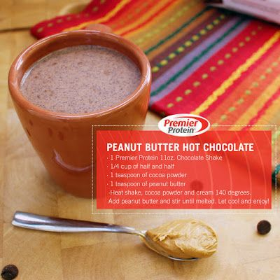 Love peanut butter & chocolate? You have to try this Premier Protein recipe! Yummy and lots of protein!
