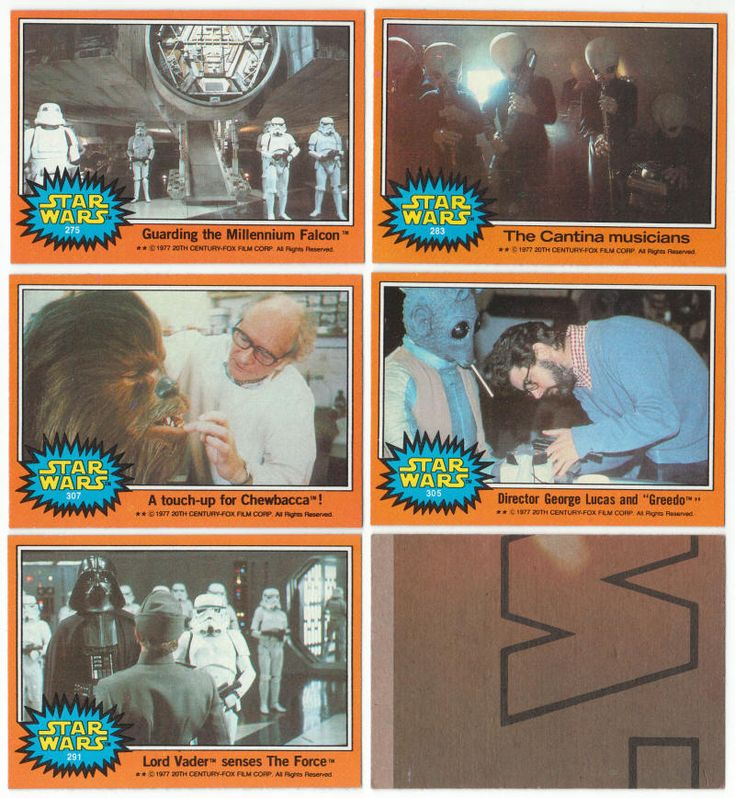 1977 topps star wars trading cards series 5 from a near