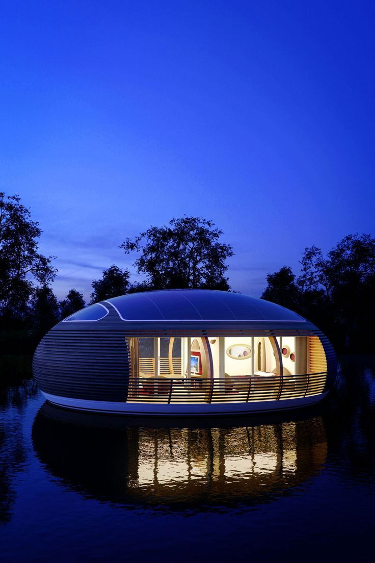 Best Wonen Op Het Water Images On Pinterest Floating House - Awesome floating house shore vista boat dock by bercy chen studio