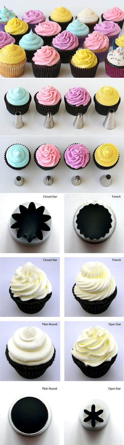 {Cupcake Basics} How to Frost Cupcakes Piping tips, Tips ...