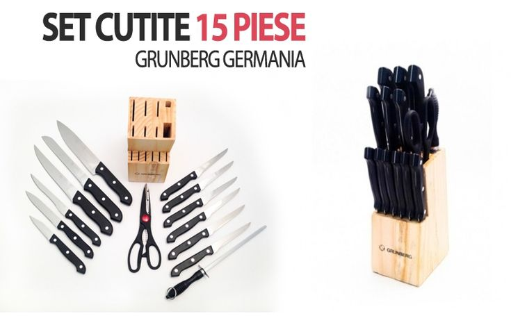 Set cutite cu 15 piese marca Grunberg Germania, la doar 68 RON in loc de 136 RON  Vezi mai multe detalii pe Teamdeals.ro: Reduceri - Set cutite cu 15 piese marca Grunberg Germania, la doar 68 RON in loc de 136 RON | Reduceri & Oferte | Teamdeals.ro
