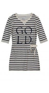 DUNE Breton striped dress, sweat jurkje, ronde hals, sportieve meisjes jurk