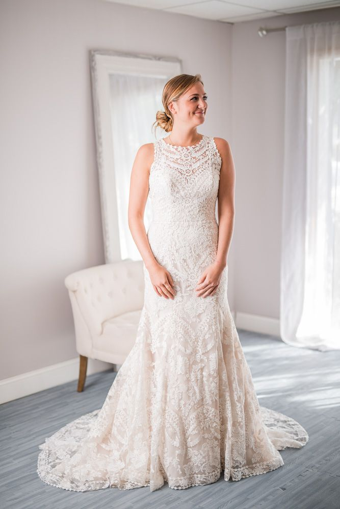 eddy k for bhldn adalynn illusion neckline wedding dress for rent or sale