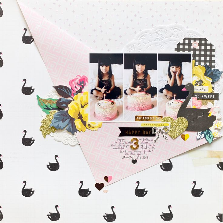 Hello! Today, I'm so excited to share with you my very first layout that I created for 2016 Crate Paper Design Team. When the Bloom collection was introduced to the scrapbooking world, I knew that it