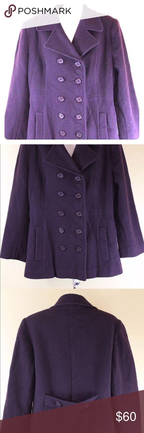 St. John's Bay Authentic Women's Wool Coat St. John's Bay Authentic Women's Wool Jacket/Coat/Sweater Size 10P Petite Color is Maroon. Lightly used in excellent condition! Saint John's Bay Active Jackets & Coats Pea Coats