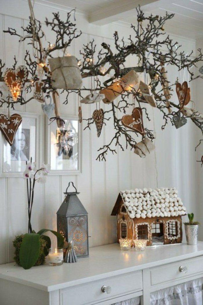 weihnachtsdeko ideen skandinavisch rustikal gemütlich                                                                                                                                                                                 Mehr