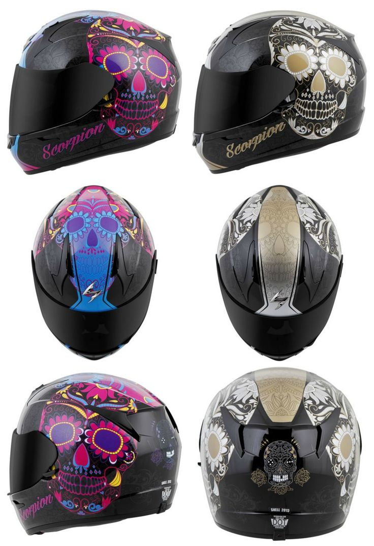 Sugar Skull Motorcycle Helmets Scorpion EXO-R410 Sugarskull Helmet Review