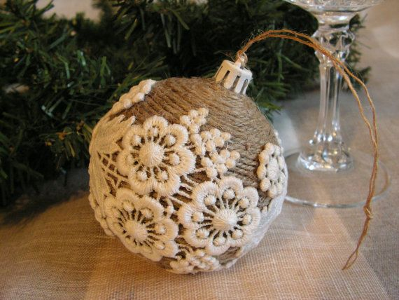 Handmade Christmas ornament (Would be cute on a vase or something)
